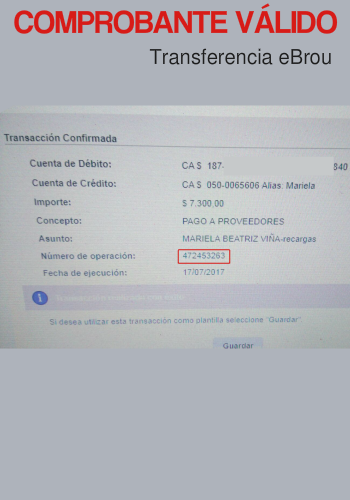 Comprobante Transferencia eBrou Válido